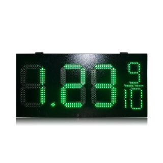 Precio de fábrica 12 '' + 6 '' Verde 7 segmentos 8.88 9/10 Led Oil Gas Sign